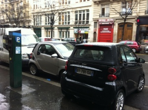 Parking is tight in Paris