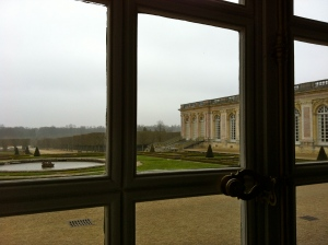 View from inside the Grand Trianon