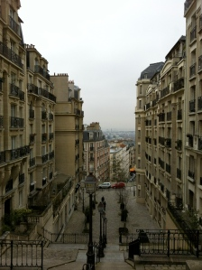Steep streets of Montmarte