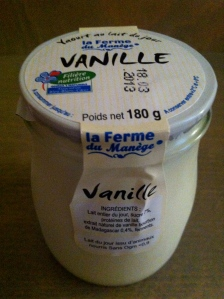 Our local grocer had the best vanilla yogurt