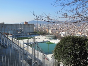 Site of diving events for the '92 Olympics - spectacular views