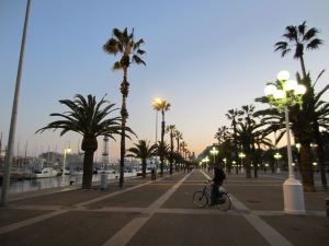 Barceloneta at night