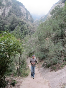 Hiking up Monserrat