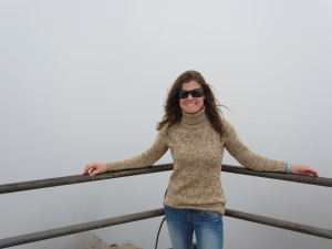 At the summit - in the midst of thick clouds