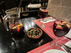 First came the sangria and olives