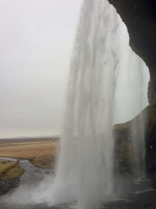 View from behind the waterfall