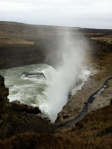 View of Gullfoss crevice