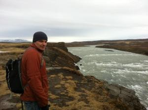 Walking along Gullfoss