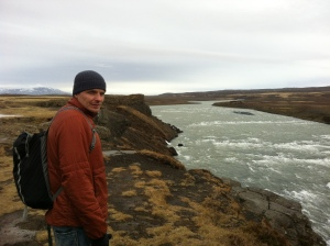 Walking along Gullfoss