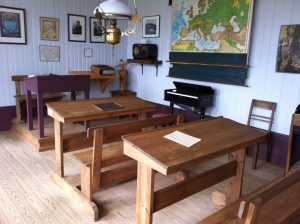 Inside the schoolhouse - all original artifacts inside