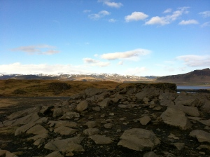 From the cliffs, there were also great views of the mountains