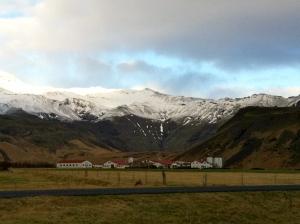 Family farm at the base of Eyjafjallajokull