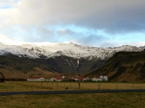 Family farm at the base of Eyjafjallajokull