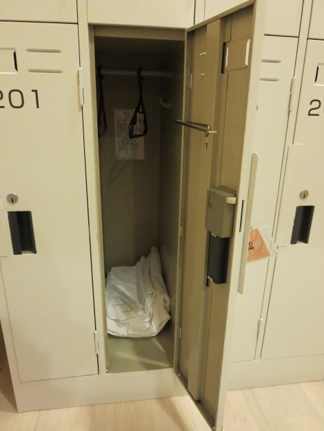 personal locker on capsule floor