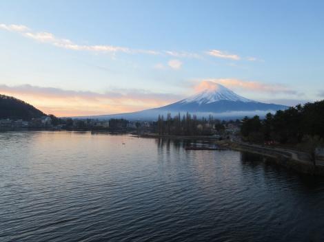 mt fuji at sunrise
