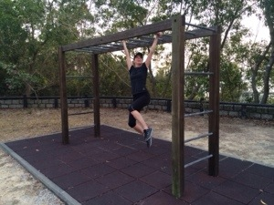 monkey bars along the path!