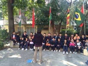 local school visiting crossroads