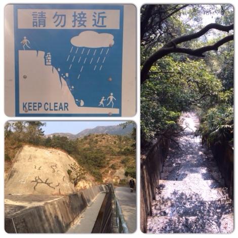 landslide prone hillside