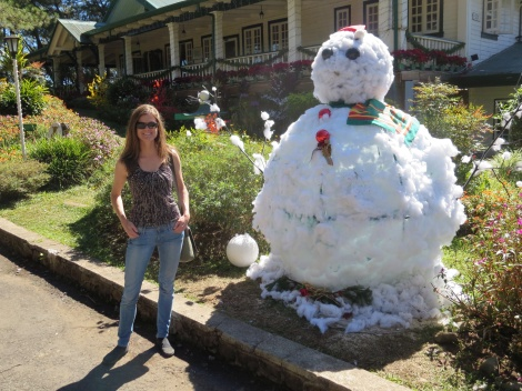 snowman in the philippines!