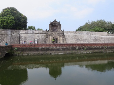 the moat surrounding fort santiago