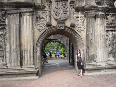 the reconstructed main gate at fort santiago