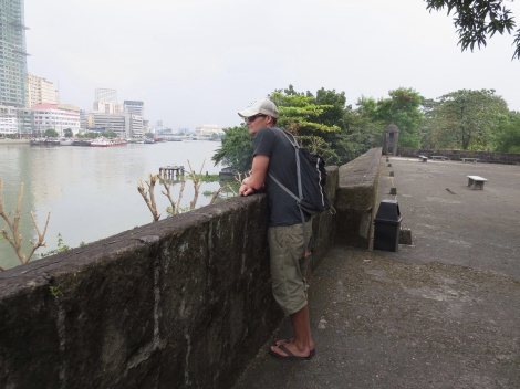 the fort walls overlooking manila bay
