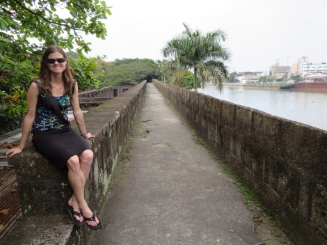 the walls of fort santiago