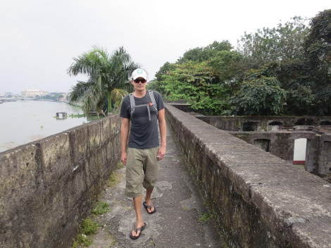 walking along the fort walls