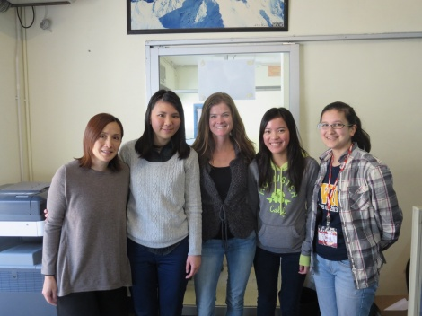 at the office...with camila, melody, kate, and genevieve