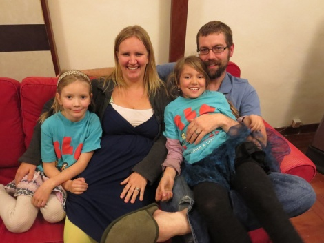 brian & johanna with their two girls...one of the families we got to know at crossroads
