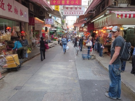 wandering the streets of hong kong