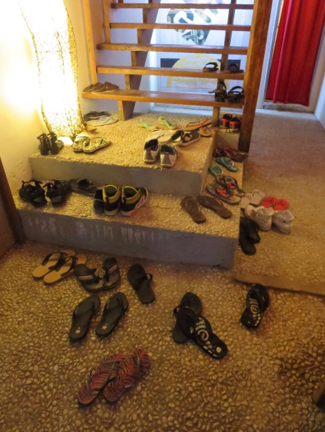 kick off your shoes & relax...many places ask you to remove your shoes before entering