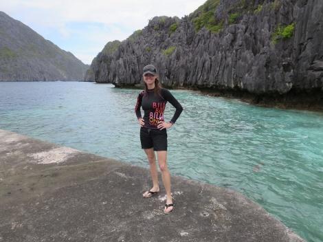 the jagged cliffs of matinloc island