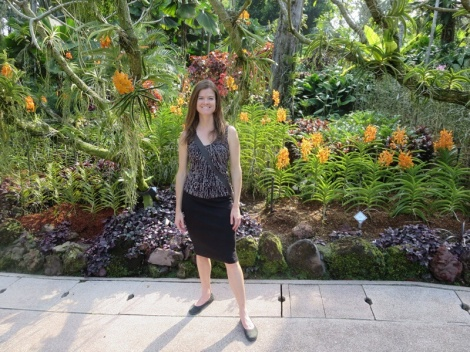 inside the orchid garden