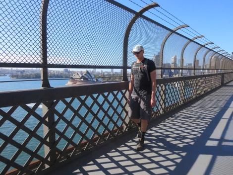 on the sydney harbour bridge