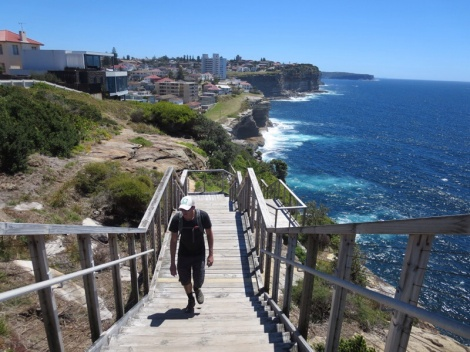 there are some impressive pathways along the coastal walk