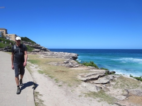 walking down to tamarama beach