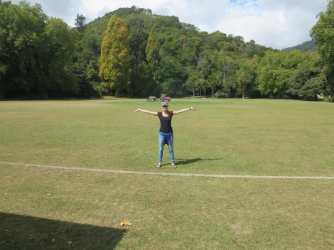 standing where NZ's first rugby match was played