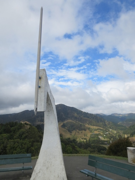 the needle marking the centre of NZ