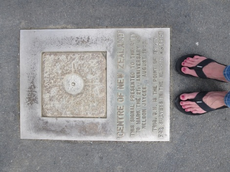 standing at the centre of NZ