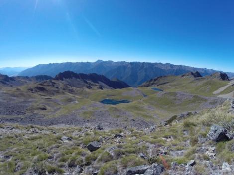 alpine lakes below