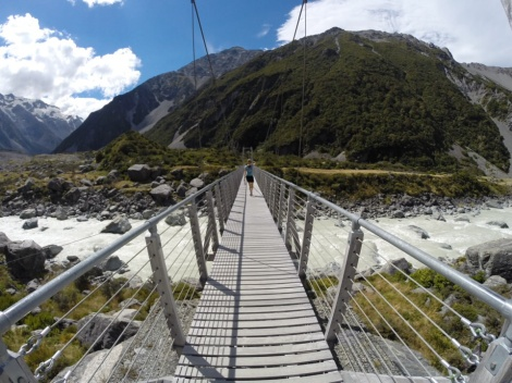 the first suspension bridge over the hooker review