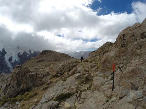 walking along the sealy range ridge