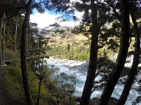 crossing back over the matukituki river