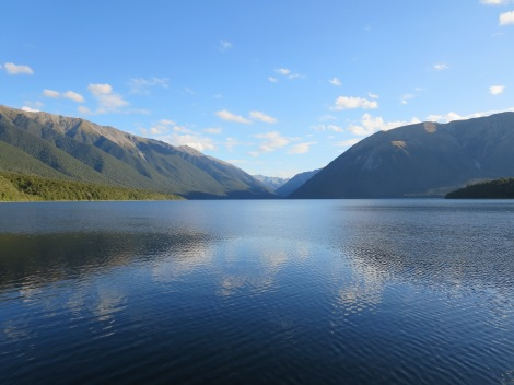 the view of lake rotoiti when we arrived