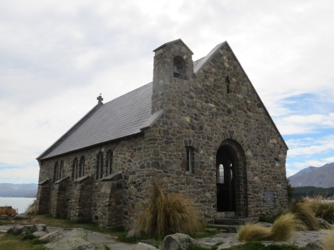 church of the good shepherd which overlooks the lake