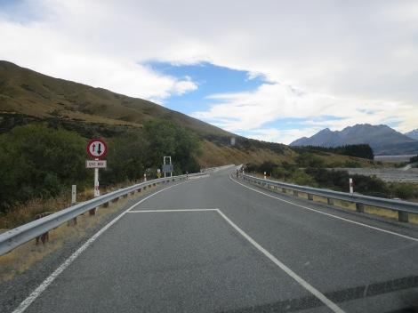 approaching a one-way bridge