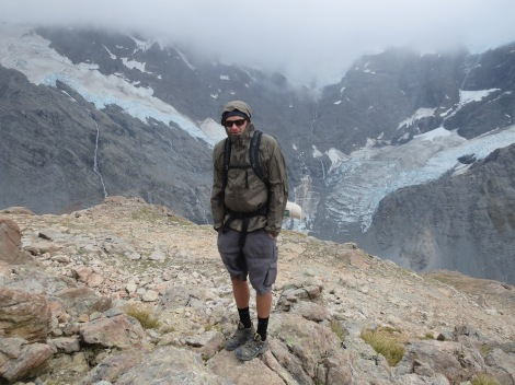 at the glacier lookout