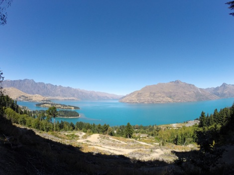 beautiful views of lake wakatipu as we climb up