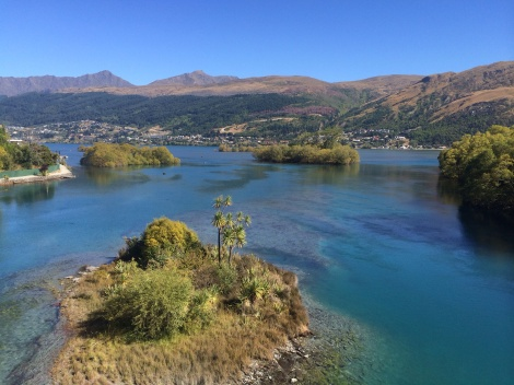 view toward queenstown from the bridge